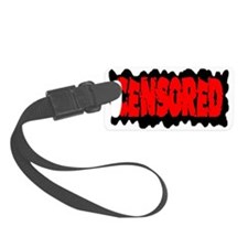censored_red_transparent Luggage Tag