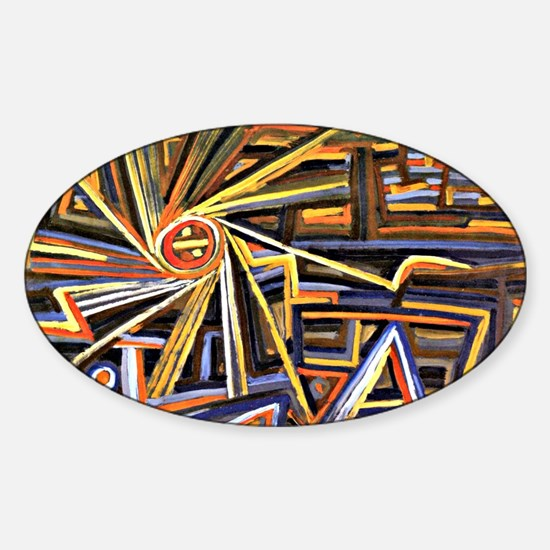 Paul Klee - Radiation and Rotation Sticker (Oval)