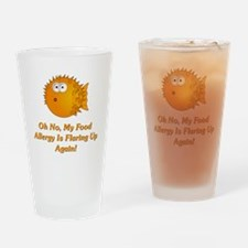Oh No, My Food Allergy Drinking Glass