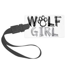 wolf-girl-lights Luggage Tag