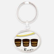 holy buckets Oval Keychain