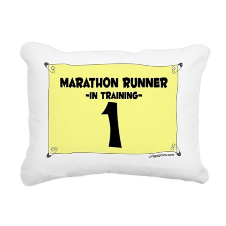 marathoner_train Rectangular Canvas Pillow