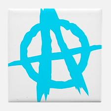 Anarchy Symbol Blue Tile Coaster