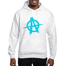 Anarchy Symbol Blue Jumper Hoody