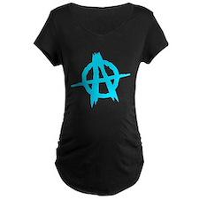 Anarchy Symbol Blue Maternity T-Shirt
