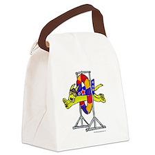 SuperDoggieTire copy Canvas Lunch Bag