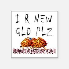 "IRNEW_Infant Bodysuit, Infa Square Sticker 3"" x 3"""