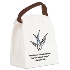 blue ambition Canvas Lunch Bag