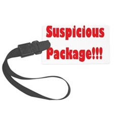 Suspicious Package Luggage Tag