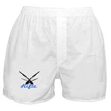 Light Blue Rifles Boxer Shorts
