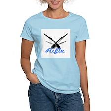 Light Blue Rifles Women's Pink T-Shirt