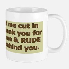 Rude Bumper Sticker Mug