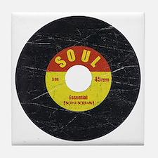 Soul Record - Scratch Texture - RGB Tile Coaster