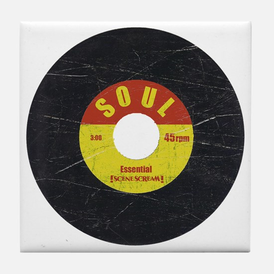 Soul Record - Scratch Texture - RGB Tile Coaster
