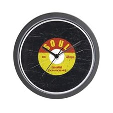 Soul Record - Scratch Texture - RGB Wall Clock