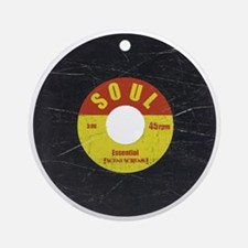 Soul Record - Scratch Texture - RGB Round Ornament