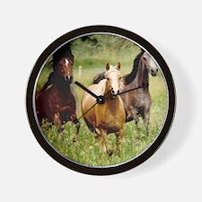 3-horses Wall Clock