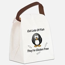 Eat Lots Of Fish Canvas Lunch Bag