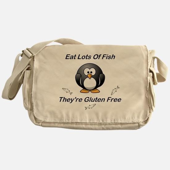 Eat Lots Of Fish Messenger Bag