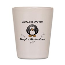 Eat Lots Of Fish Shot Glass