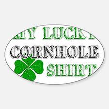 luckycornhole Sticker (Oval)