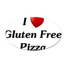 I Heart Gluten Free Pizza Oval Car Magnet