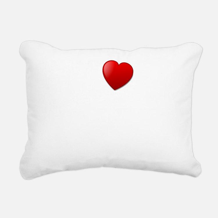 I Heart Gluten Free Pizz Rectangular Canvas Pillow
