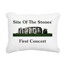 Stones First Concert Rectangular Canvas Pillow
