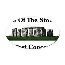 Stones First Concert Oval Car Magnet