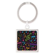 Colored Music Notes Choir Band Keychains