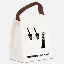 Real Men Use 3 Pedals Canvas Lunch Bag