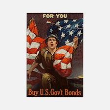 WW I Riesenberg, Sidney H. 1917 Rectangle Magnet