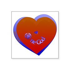 "One God Logo1-SikhAttitude Square Sticker 3"" x 3"""