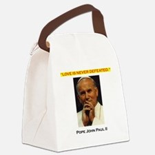 Commander Catholic Shirt copy Canvas Lunch Bag
