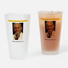 Commander Catholic Shirt copy Drinking Glass
