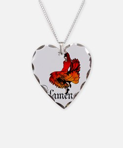 flamenco Necklace Heart Charm