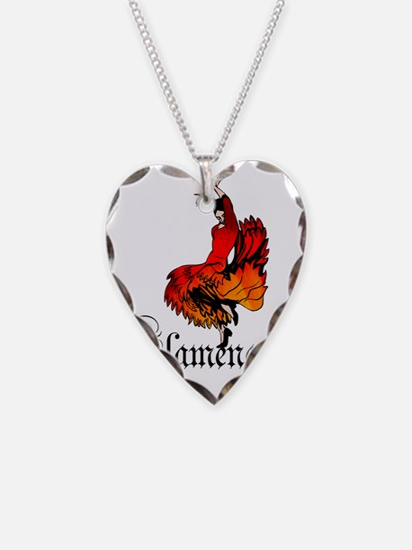 flamenco Necklace Heart Charm