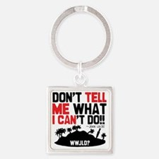 tellmeican Square Keychain