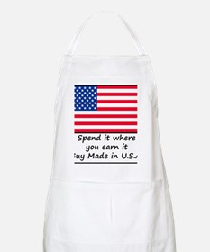 Spend it where you earn it 1400x1400 Apron
