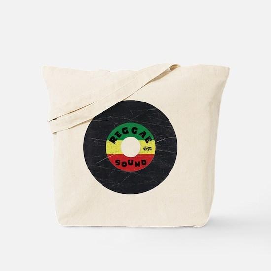 Reggae Record - Scratch Texture Tote Bag