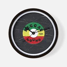 Reggae Record - Scratch Texture Wall Clock