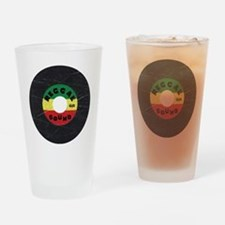 Reggae Record - Scratch Texture Drinking Glass