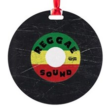 Reggae Record - Scratch Texture Ornament
