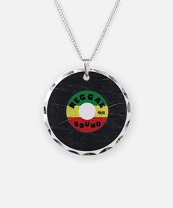 Reggae Record - Scratch Text Necklace