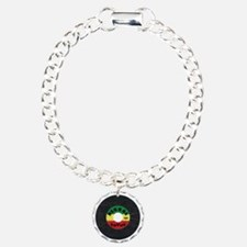 Reggae Record - Scratch  Charm Bracelet, One Charm