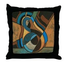 GeoCubistPear for DiegoShirt Throw Pillow