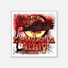 "twilight newborn army eclip Square Sticker 3"" x 3"""