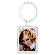 Greta Nissen 1928 Portrait Keychain