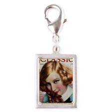 Greta Nissen 1928 Silver Portrait Charm