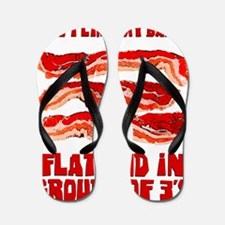 women-bacon Flip Flops
